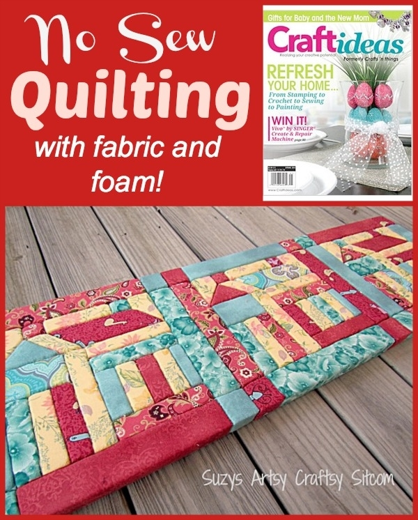 No Sew Quilting With Fabric And Foam! Inside No Sew Fabric Wall Art (Image 8 of 15)