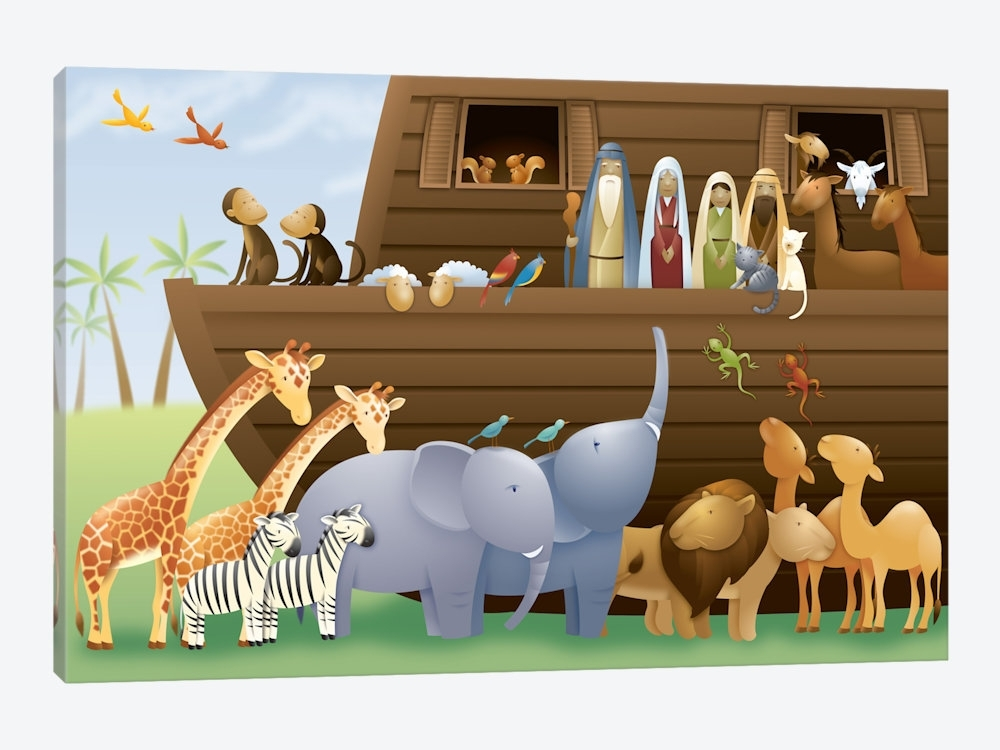 Noah's Ark Canvas Art | Icanvas Intended For Canvas Wall Art At Wayfair (Image 8 of 15)