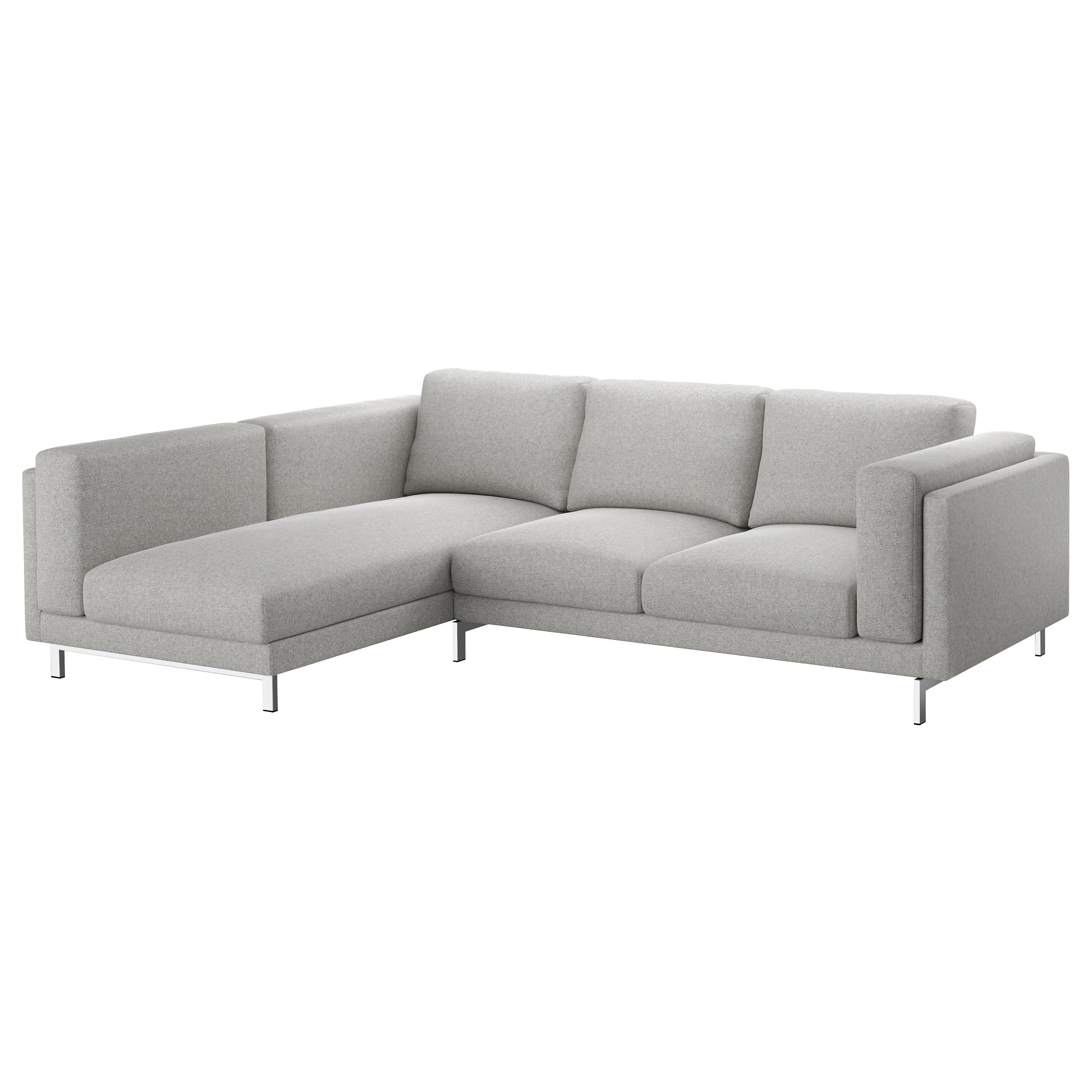 Nockeby Sofa – With Chaise, Left/tallmyra White/black, Chrome Plated Throughout Sectional Sofas At Ikea (View 2 of 10)