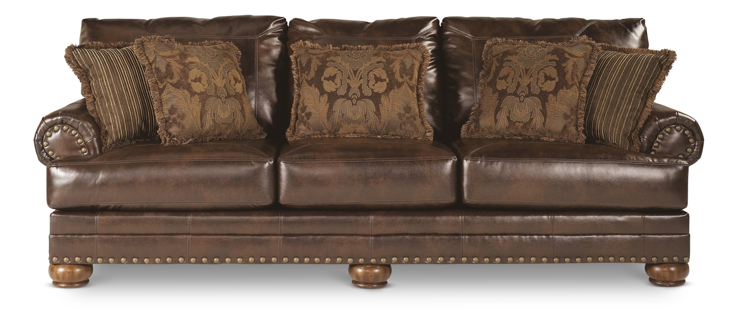 Norfolk Bonded Leather Sofa | Dock86 In Dock 86 Sectional Sofas (Image 7 of 10)