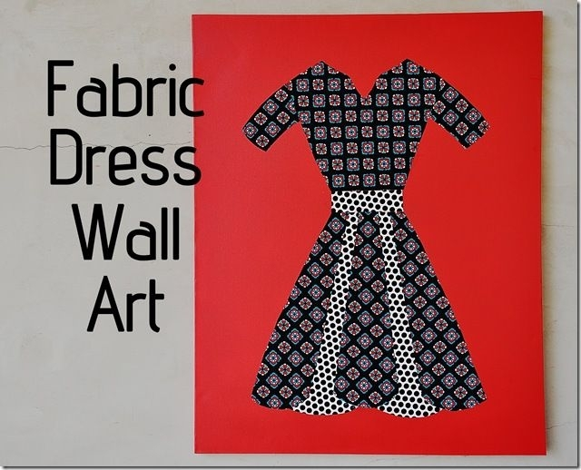 Featured Photo of Fabric Dress Wall Art