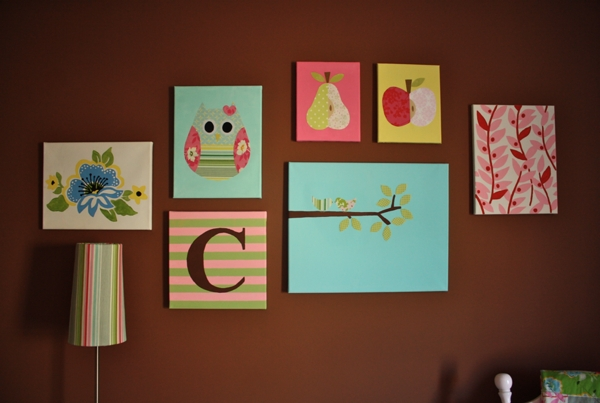 Nursery Canvas Tutorial | Sew Like My Mom Throughout Childrens Fabric Wall Art (Image 13 of 15)