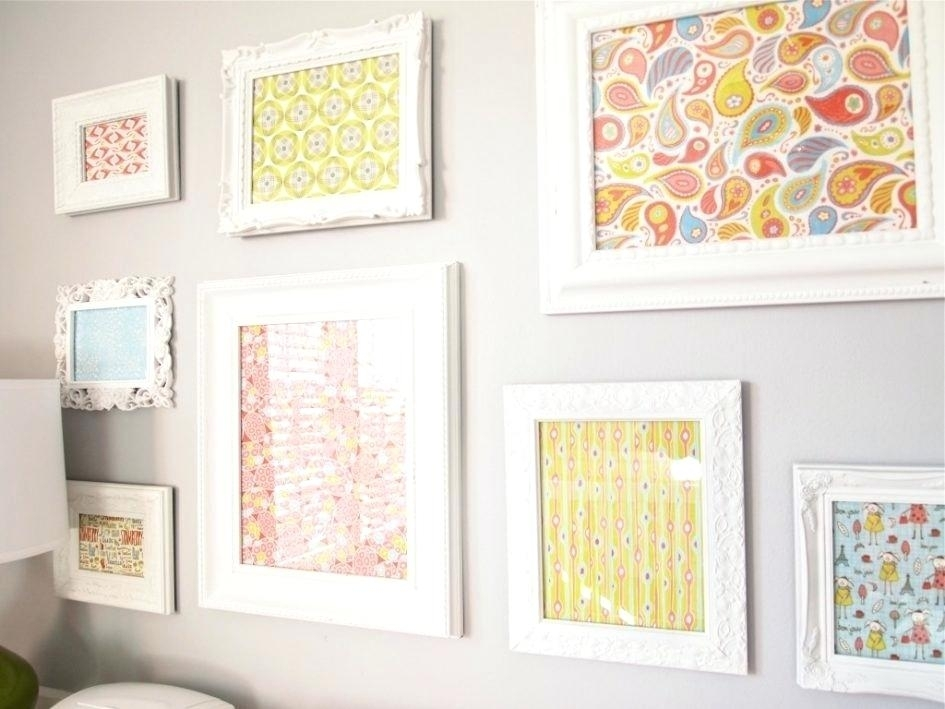 Nursery Framed Wall Art Art Wall Decorating Ideas For The Nursery Within Fabric Wall Art For Nursery (View 4 of 15)