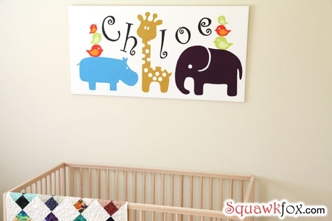 Nursery Wall Art: Decorate Your Baby's Room For Less – Squawkfox Regarding Baby Room Canvas Wall Art (View 5 of 15)