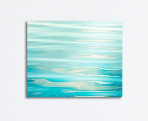 Ocean Canvas Wrap Sea Aqua Blue Water Ripples Abstract With Regard To Abstract Ocean Wall Art (View 10 of 15)