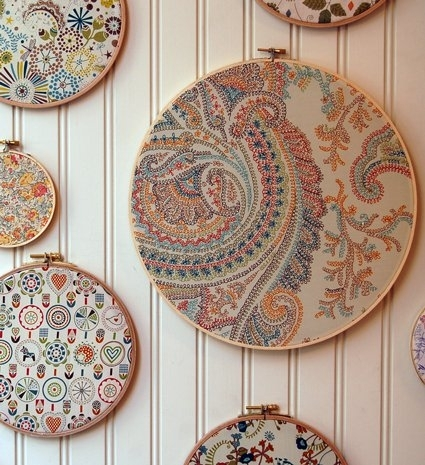 Of London Swatch Portraits | Purl Soho Throughout Embroidery Hoop Fabric Wall Art (View 11 of 15)