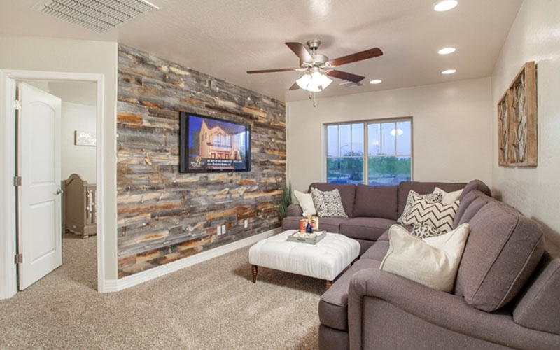 Official Reclaimed Wood Wall Photo Ideascentennial Woods With Reclaimed Wood Wall Accents (Image 6 of 15)