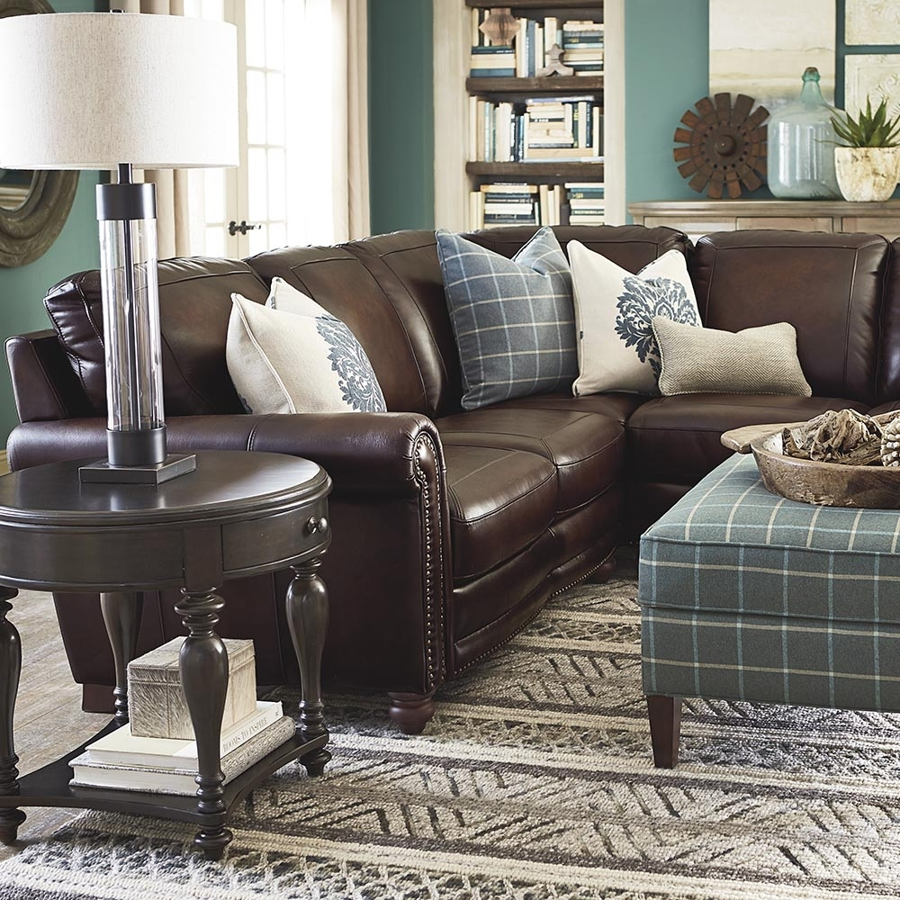 Old World Brown Leather Sectional | Bassett Furniture Within Hamilton Sectional Sofas (View 10 of 10)