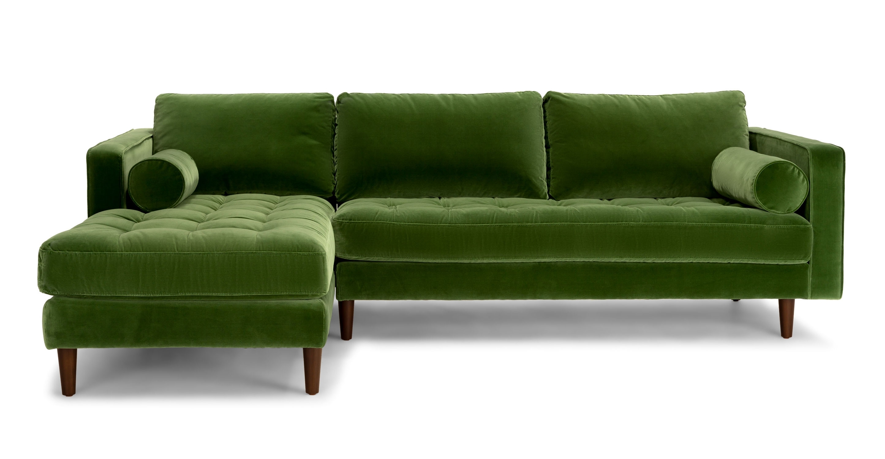 Olive Green Chenille Fabrical Sofa Seafoam Emerald Leather Sage For Green Sectional Sofas (View 2 of 10)