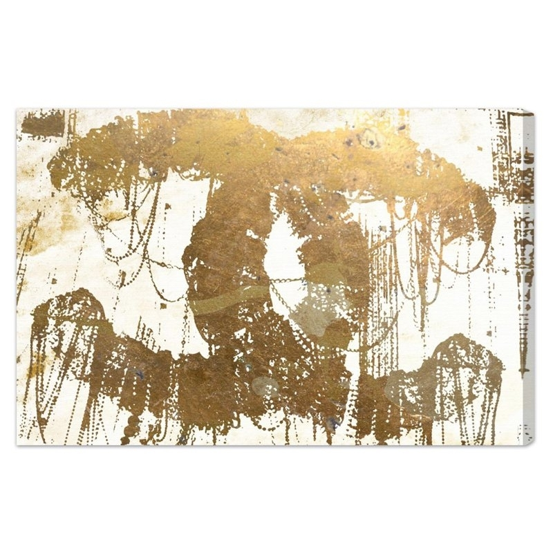 Oliver Gal The Eye Of Gold Canvas Wall Art | Hayneedle Within Gold Canvas Wall Art (View 13 of 15)