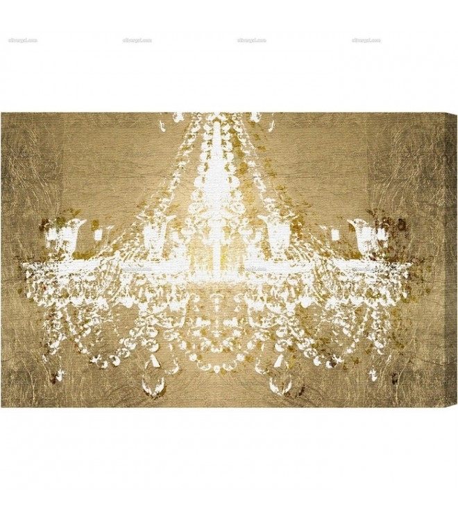 On Gold Canvas Wall Art Throughout Chandelier Canvas Wall Art (View 1 of 15)