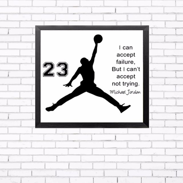 Online Shop Hot Michael Jordan Poster Inspiring Quotes Wall Art Inside Michael Jordan Canvas Wall Art (View 8 of 15)