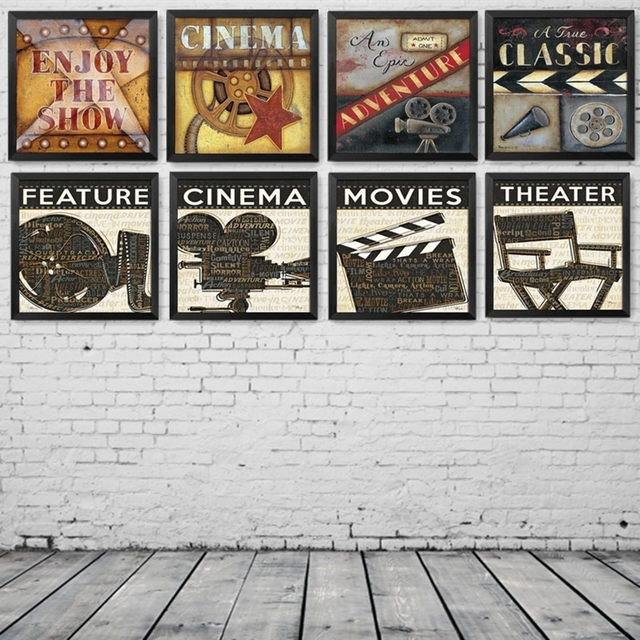 Online Shop Modern Paintings Movie Filming Acting Canvas Art Print Intended For Movies Canvas Wall Art (Image 12 of 15)
