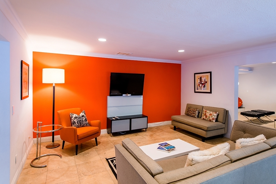 Orange Accent Wall | Accent Walls | Pinterest | Orange Accent For Wall Accents For Media Room (Image 11 of 15)