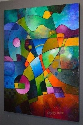 Original Abstract Textured Impasto Painting, Modern Art Acrylic Pertaining To Original Abstract Wall Art (Image 12 of 15)