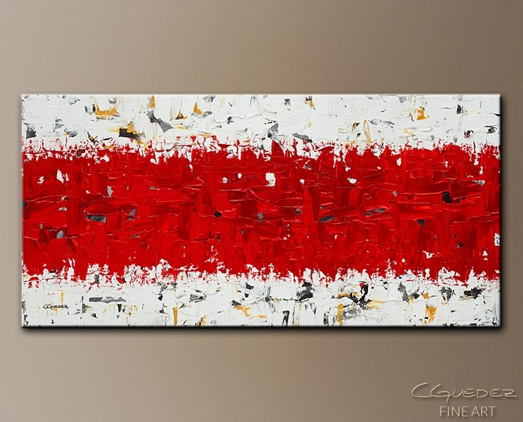 Original Canvas Art For Sale Hashtag Red – Original Abstract Intended For Original Abstract Wall Art (Image 14 of 15)