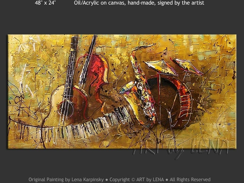 Original Jazz Band Paintings ⋆ Artlena With Regard To Abstract Jazz Band Wall Art (View 14 of 15)