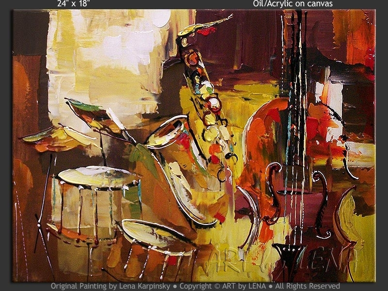 Original Jazz Band Paintings ⋆ Artlena With Regard To Abstract Jazz Band Wall Art (View 12 of 15)