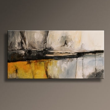 Original Textured Abstract Painting On From Itarts On Etsy With Gray Abstract Wall Art (Image 11 of 17)