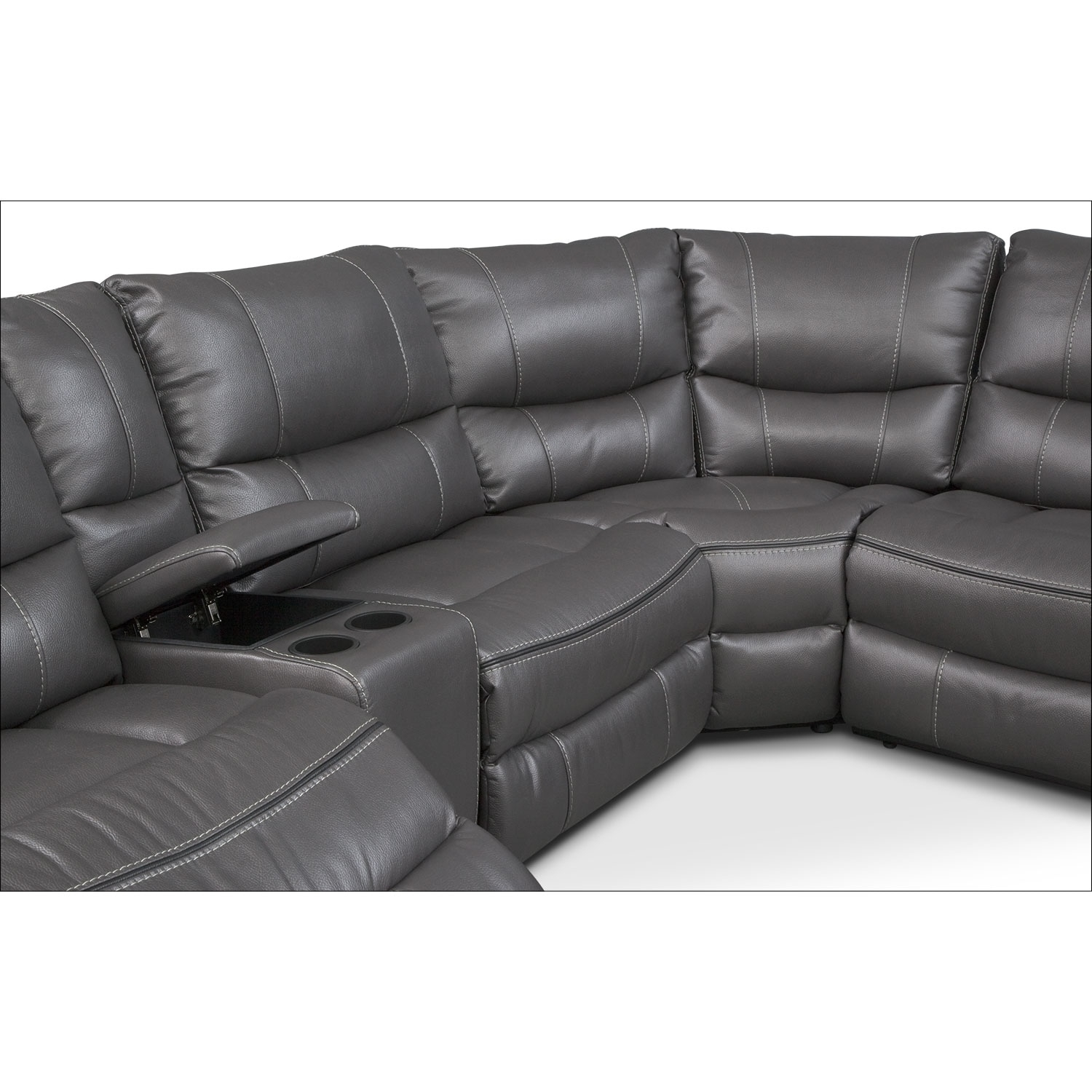 Orlando 6 Piece Power Reclining Sectional With 1 Stationary Chair Throughout Orlando Sectional Sofas (Image 4 of 10)