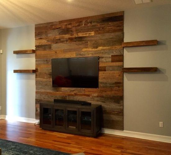 Orlando Reclaimed Wood Walls | Custom Wood Walls In Wood Wall Accents (Image 10 of 15)