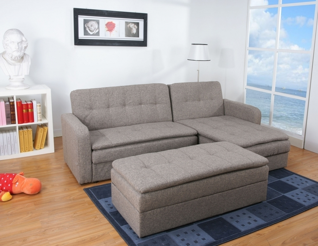 Ottoman Sofa Bed Denver Rind Finish Double Cushion Storage Sectional For Denver Sectional Sofas (Image 7 of 10)