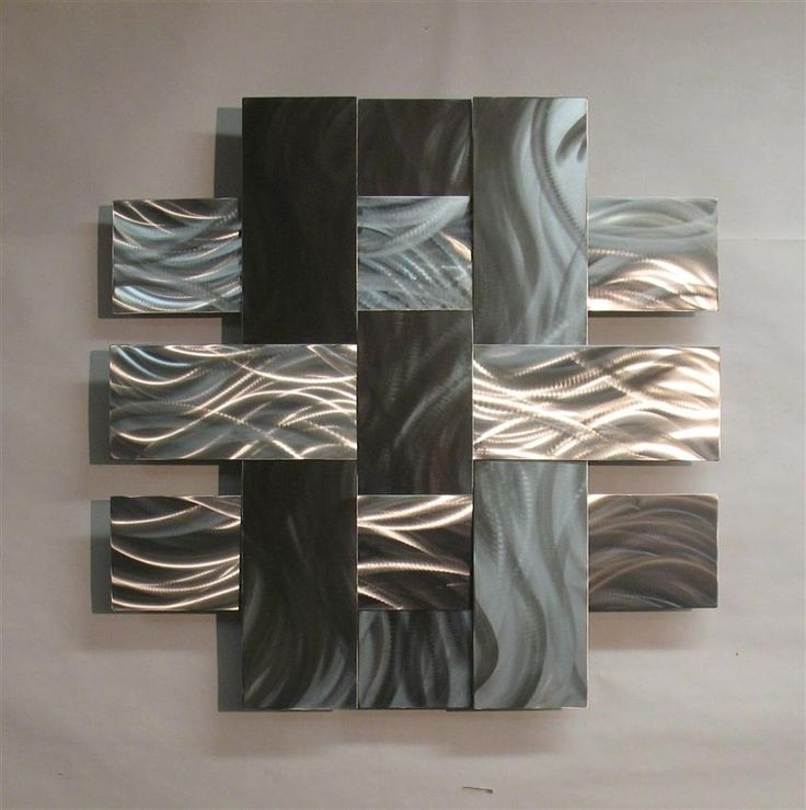 Outdoor Metal Wall Decor Steel Wall Art Wall Sculptures Metal Wall Within Abstract Leaf Metal Wall Art (Image 11 of 15)