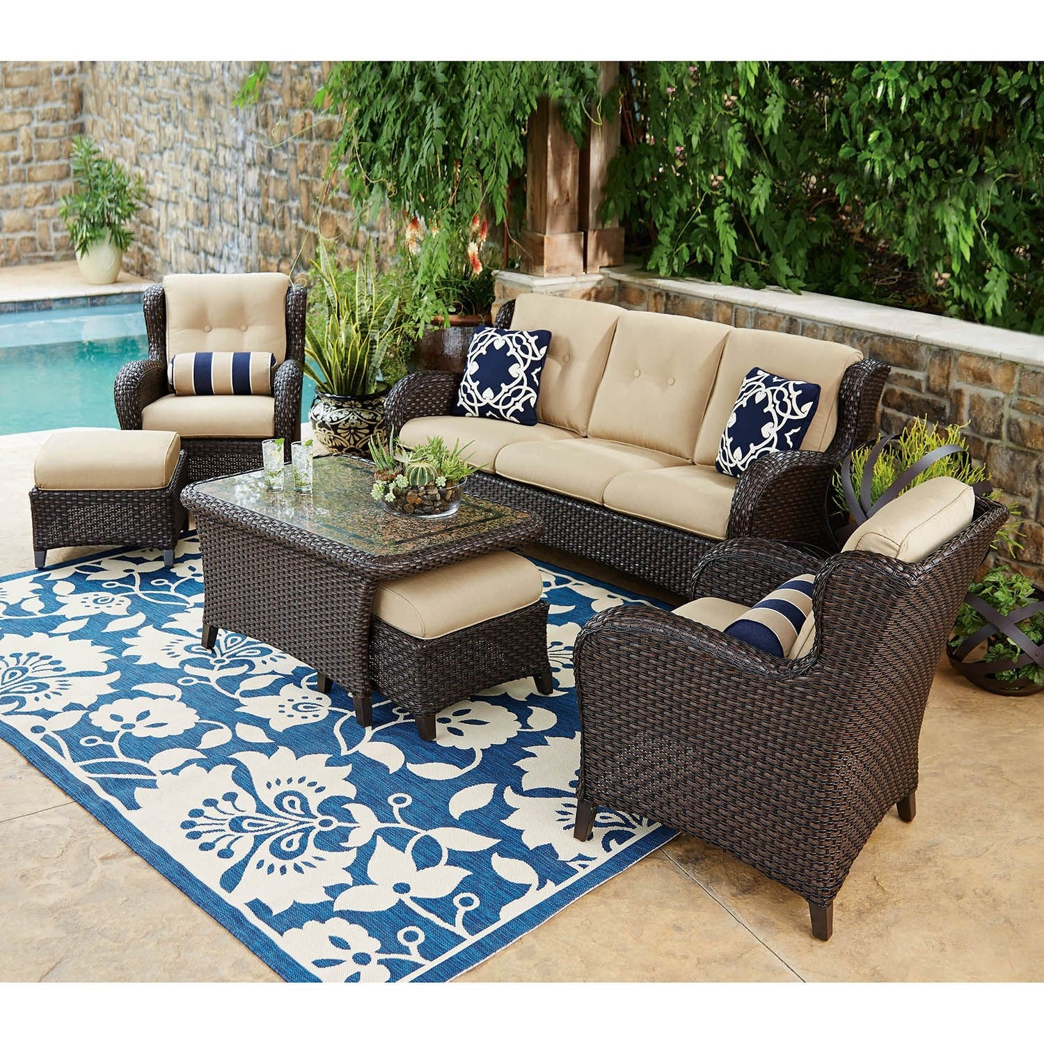 Outdoor Patio Sofas - Home Design Ideas regarding Patio Sofas