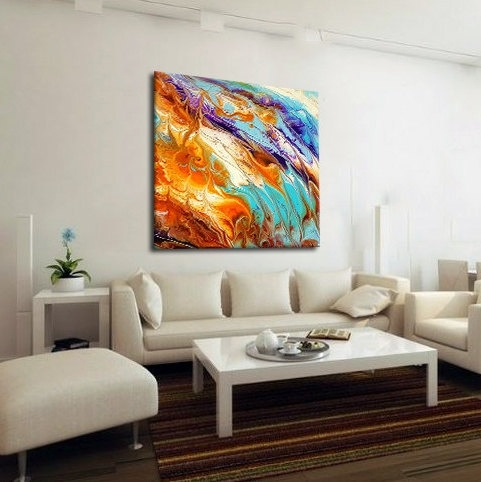 Oversized Abstract Canvas Print, Boho Wall Decor, Pastel, Extra With Regard To Abstract Oversized Canvas Wall Art (View 9 of 15)