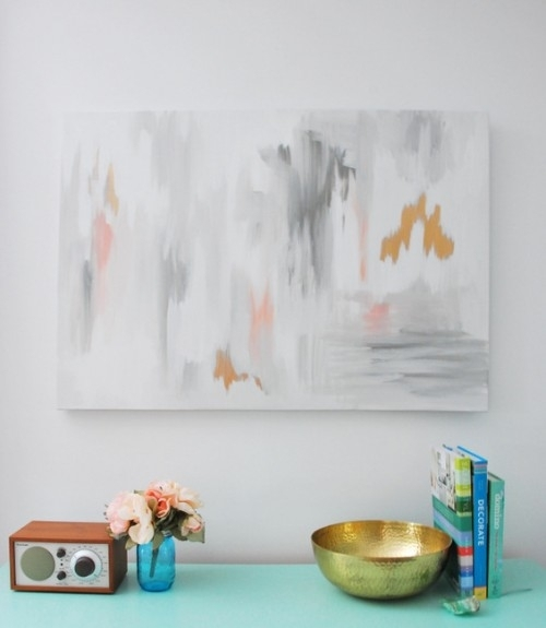 Oversized Diy Abstract Wall Art Piece – Shelterness With Regard To Gray Abstract Wall Art (Image 14 of 17)