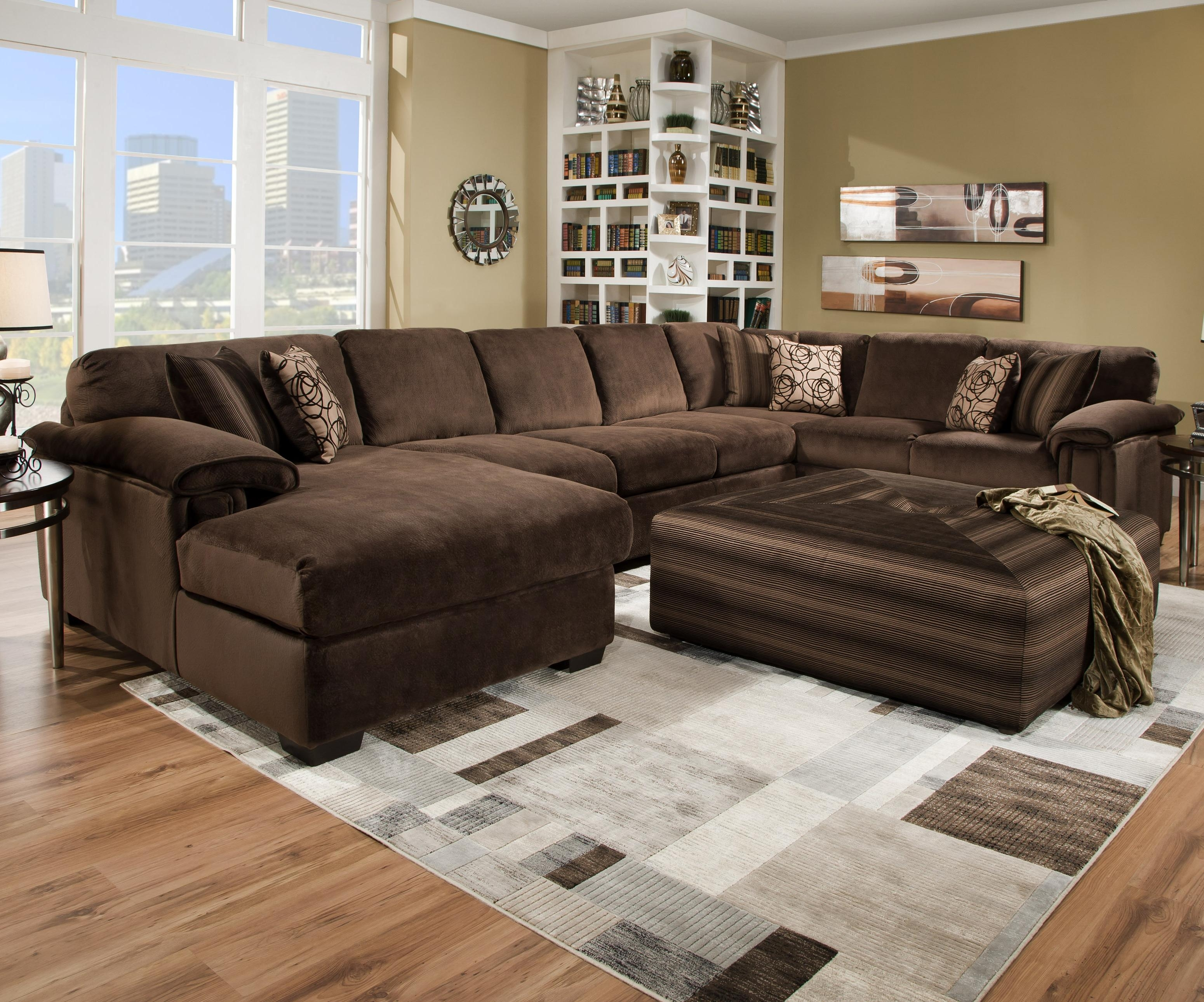 Oversized Ottoman Coffee Tables in Sectional Sofas With Oversized Ottoman