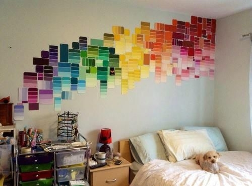 Paint Swatch Wall Decor (View 2 of 15)