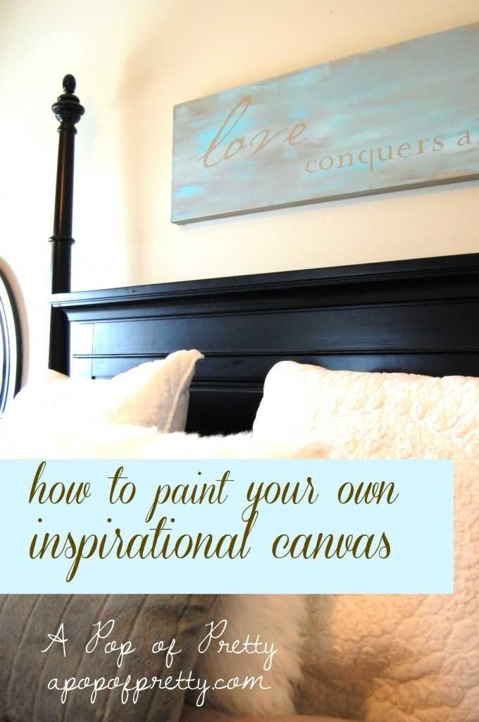 Paint Your Own Wall Art Incredible Spotlighting Our Sponsors Large Within Large Canvas Wall Art Quotes (View 9 of 15)