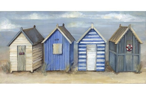 Painted Beach Hut Canvas – 60X30Cm – Homebase | Art | Pinterest Intended For Homebase Canvas Wall Art (Image 7 of 15)