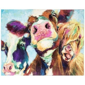 Painted Cows Wood Wall Decor | Hobby Lobby | Wall Art | Pinterest With Regard To Hobby Lobby Abstract Wall Art (Image 11 of 15)