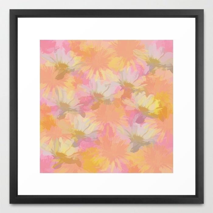 Painted Spring Flowers Framed Art Print | !  Art & Decor  ! Pertaining To Flowers Framed Art Prints (Image 8 of 15)