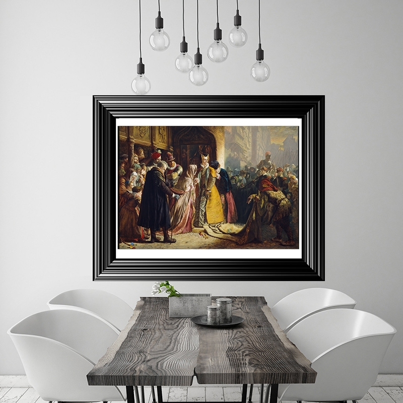 Painting Of Return Of Mary Queen Of Scots To Edinburgh Large Pertaining To Edinburgh Canvas Prints Wall Art (Image 12 of 15)