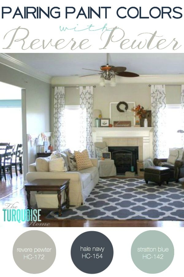 Pairing Paint Colors With Revere Pewter | The Turquoise Home In Wall Accents For Revere Pewter (Image 13 of 15)