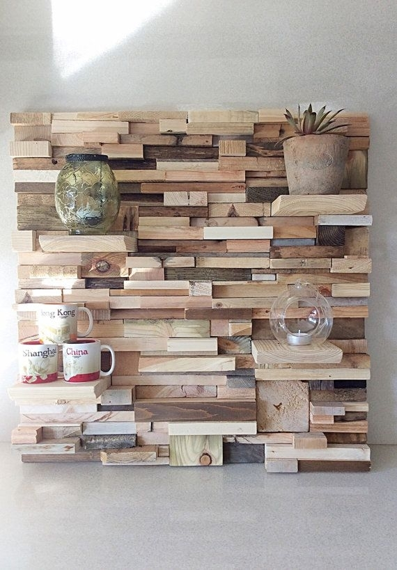 Pallet Wall Art Bespoke Feature Wall Reclaimed Gallery Wall For Wall Accents Made From Pallets (Image 15 of 15)