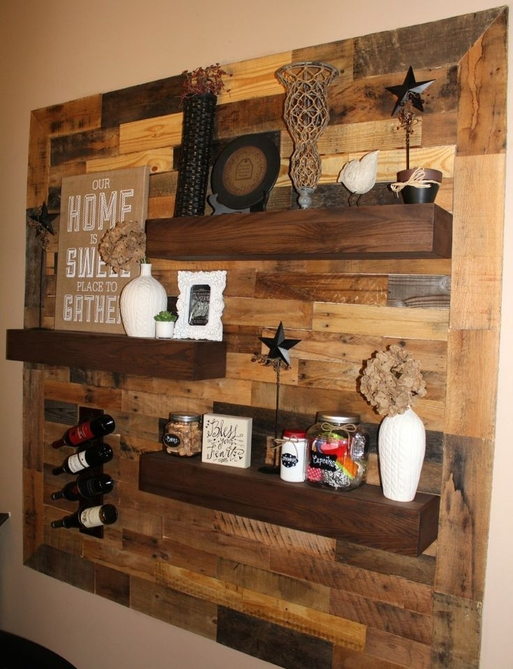 Pallet Wall Decor Best 25 Pallet Wall Decor Ideas On Pinterest With Wood Pallets Wall Accents (View 13 of 15)