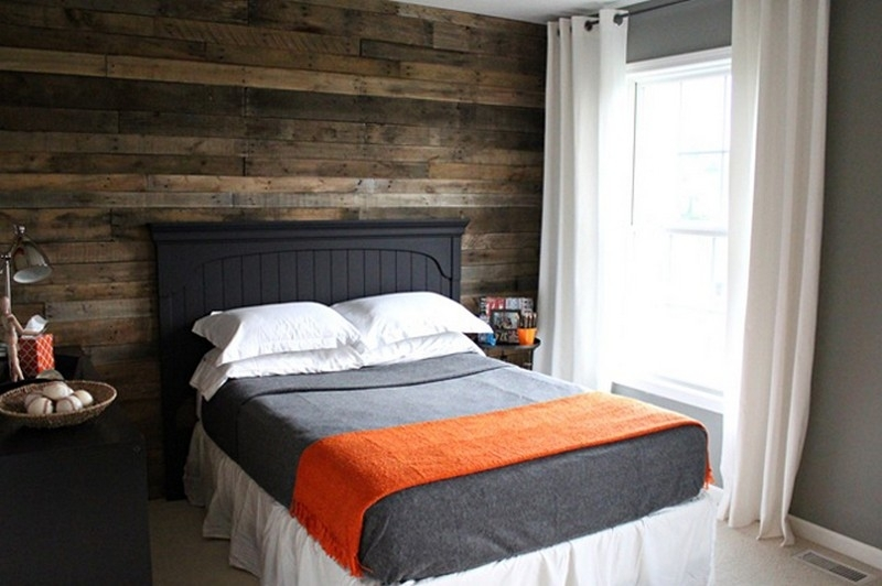 Pallet Wall Projects | The Owner Builder Network Throughout Wall Accents Behind Bed (Image 12 of 15)
