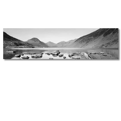 Panoramic Canvas Prints Of Lake District. Black And White Canvas Art (Image 10 of 15)