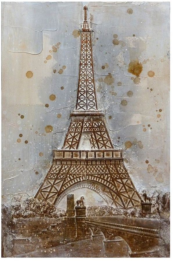Paris Eiffel Tower 3D Canvas Wall Art | It's The French In Me Regarding Eiffel Tower Canvas Wall Art (View 14 of 15)