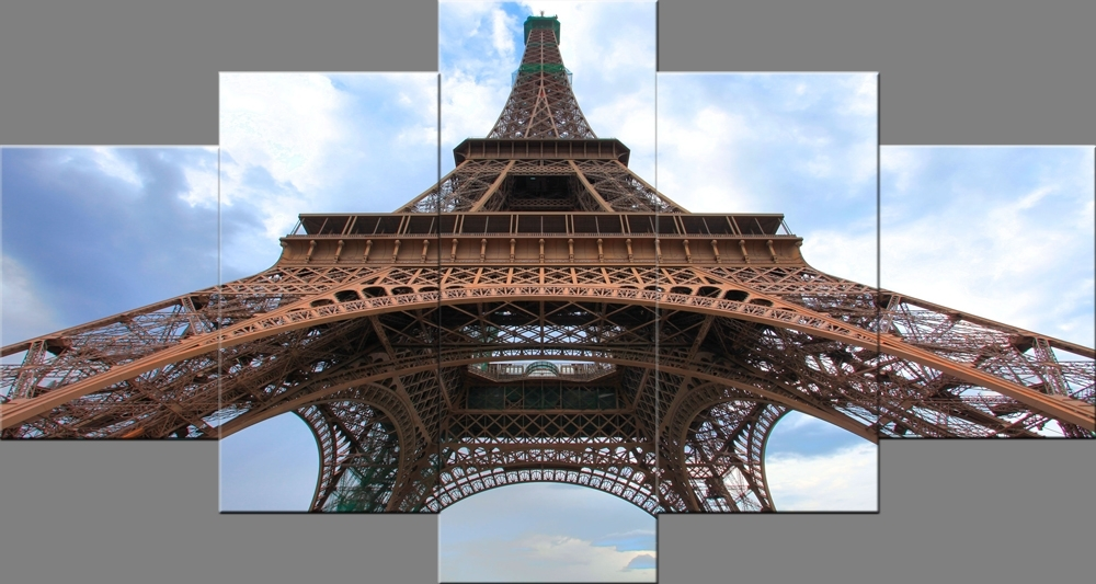 Paris Eiffel Tower Paintings Wall Art Canvas Prints Pictures With Regard To Eiffel Tower Canvas Wall Art (View 5 of 15)