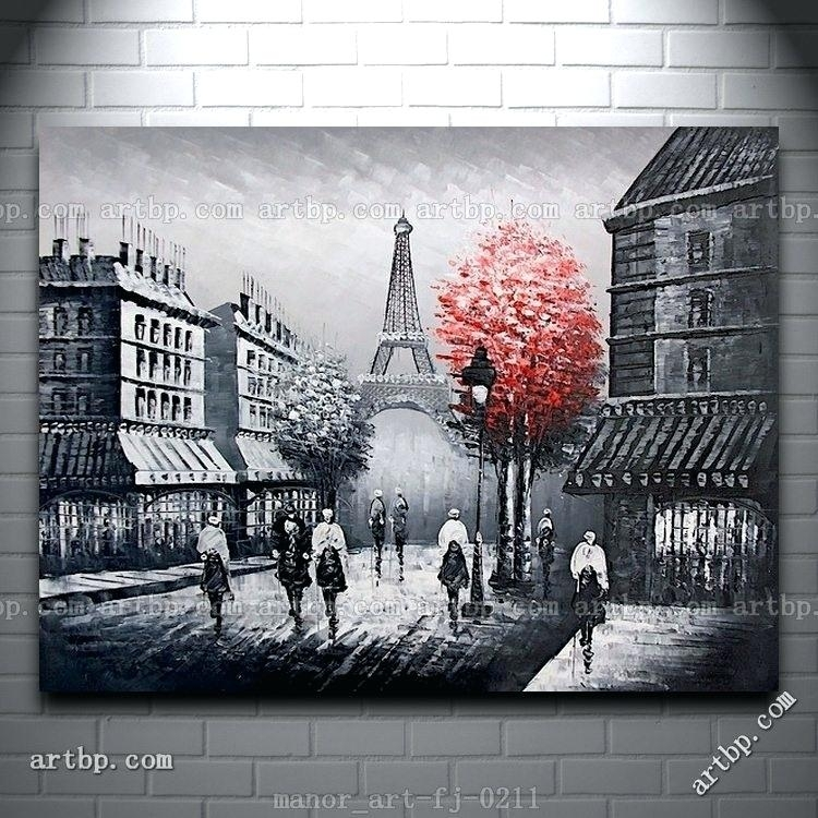 Parisian Wall Decor Paris Style Wall Decor U2013 Danielederossi Throughout  Canvas Wall Art Of Paris (