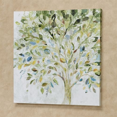 Patchwork Tree Giclee Canvas Wall Art Regarding Canvas Wall Art Of Trees (Image 7 of 15)