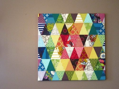 Patchwork Wall Art | Careful Nowi'm Crafty | Pinterest With Quilt Fabric Wall Art (View 7 of 15)