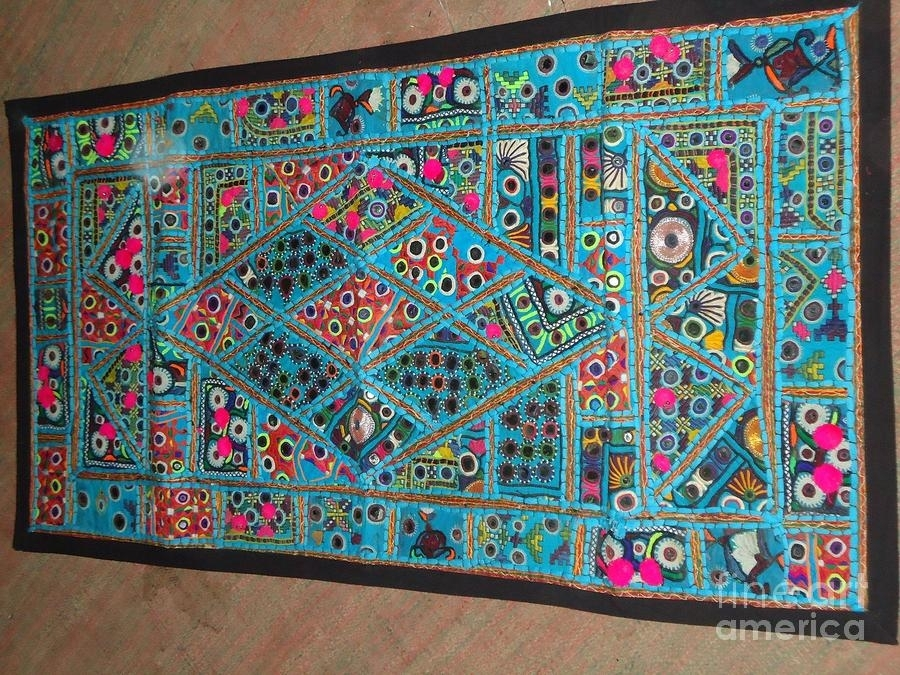 Patchwork Wall Hanging Tapestry – Textiledinesh Rathi In Vintage Textile Wall Art (Image 6 of 15)