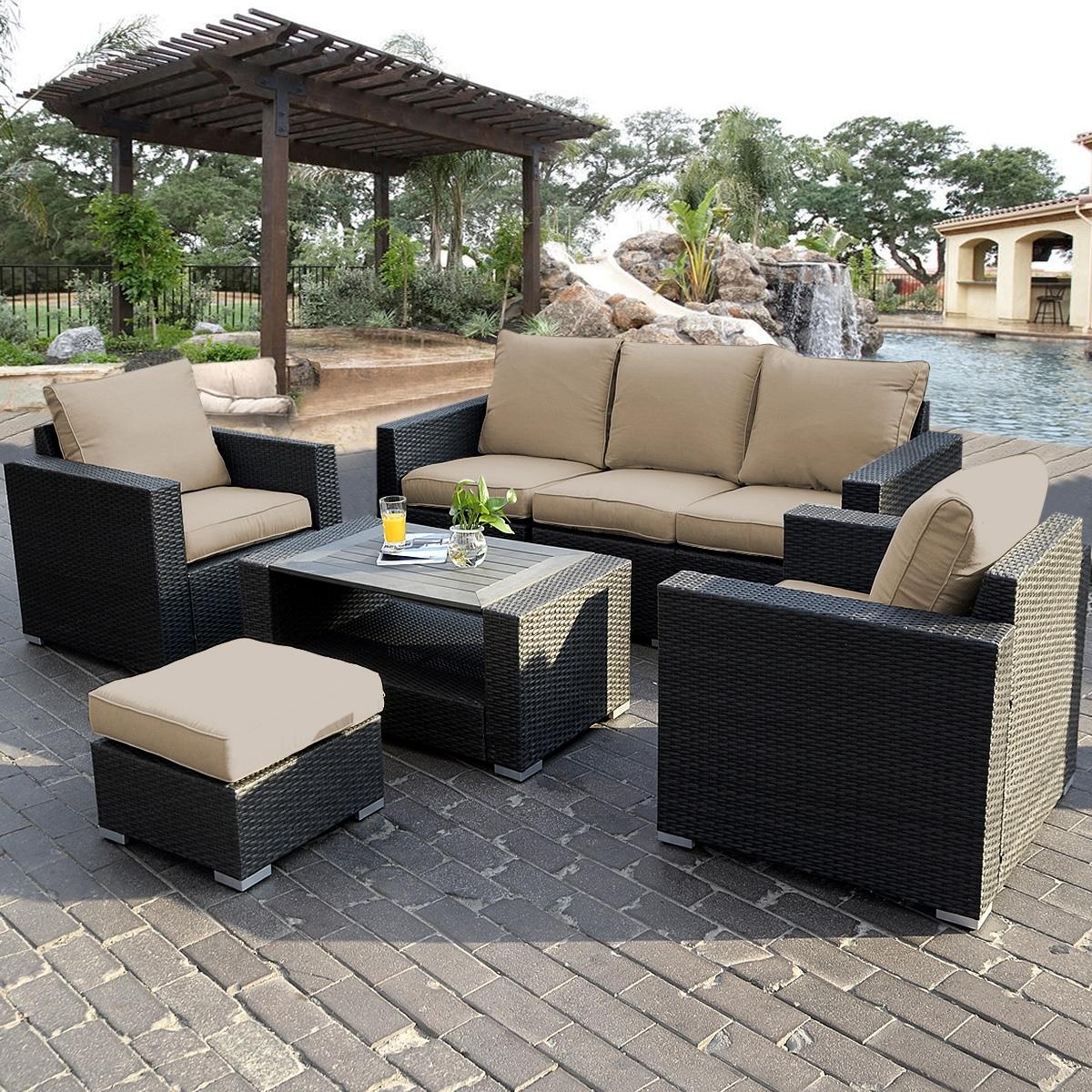 Patio & Garden : Eucalyptus Sectional Patio Furniture Patio For Patio Sofas (Image 9 of 10)