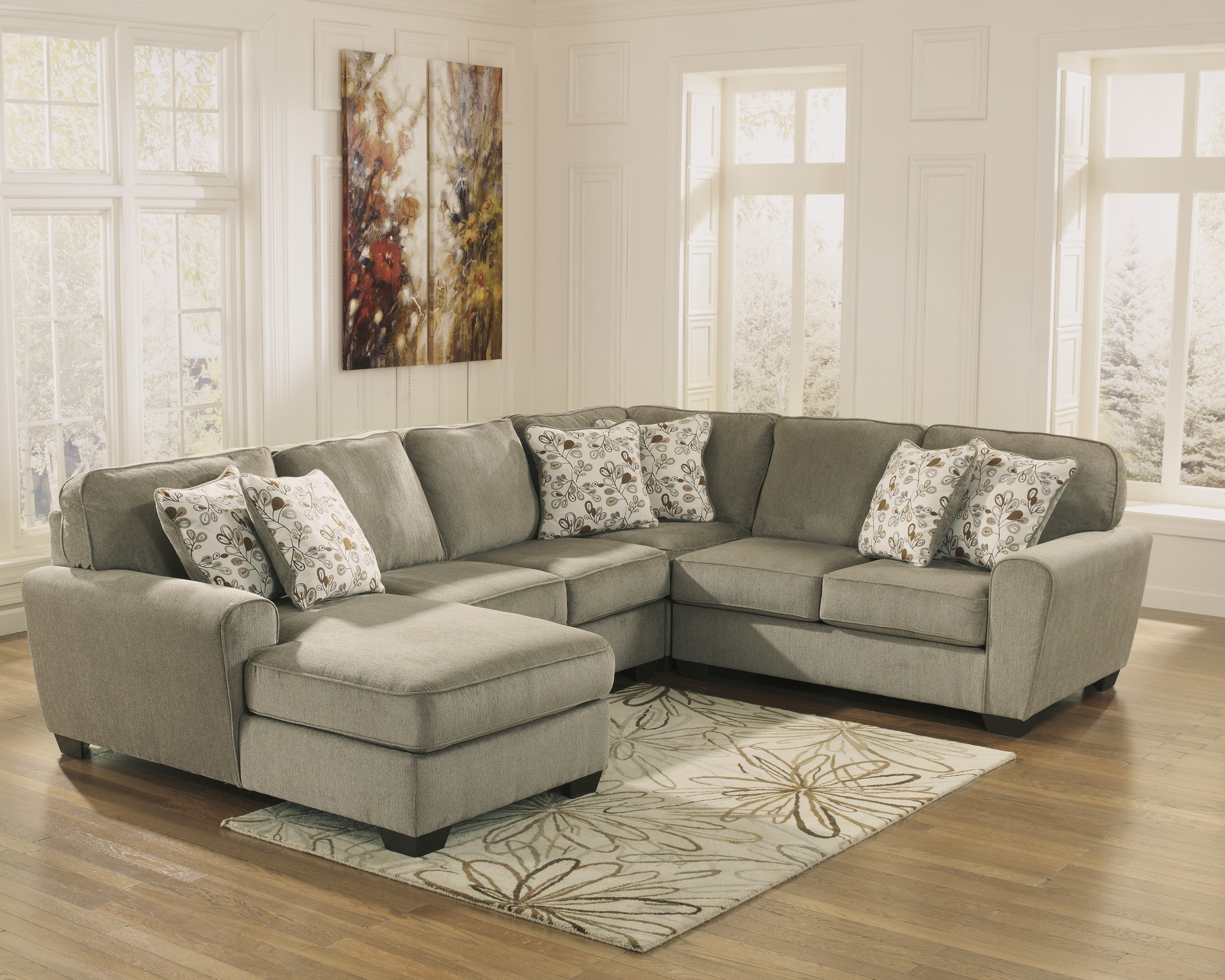 Patola Park Patina 4 Piece Sectional Set With Left Arm Facing Chaise For Elk Grove Ca Sectional Sofas (Image 10 of 10)
